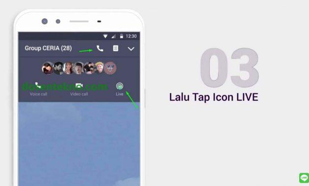 cara live streaming di line grup chat live 3