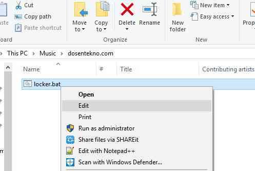 cara mengunci folder di windows 5