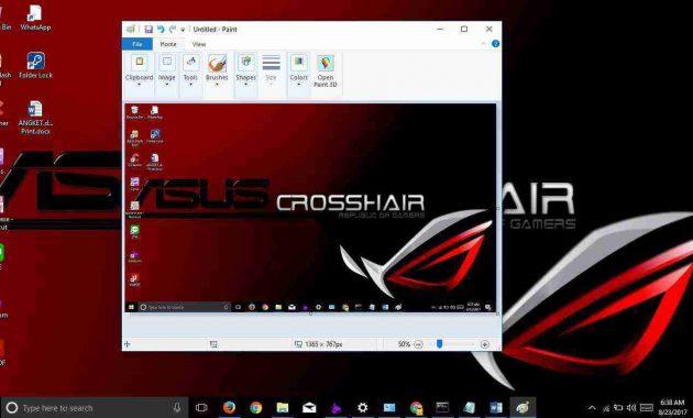 cara screenshoot di laptop PC