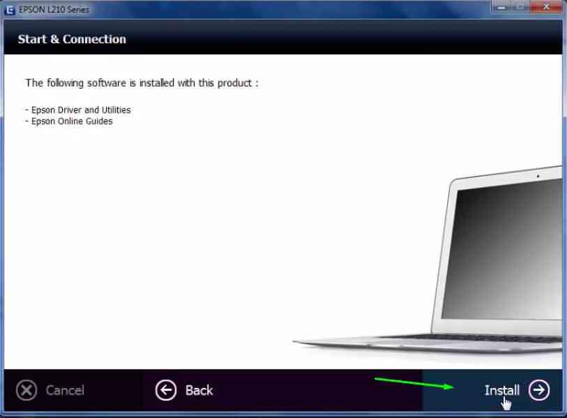 instal printer epson l120 5