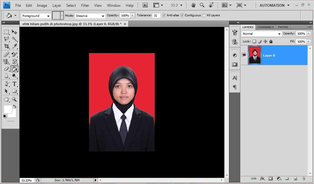 Cara Membuat Foto Menjadi Hitam Putih