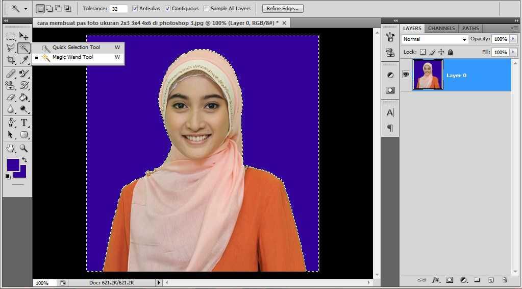 ukuran pas foto 3x4