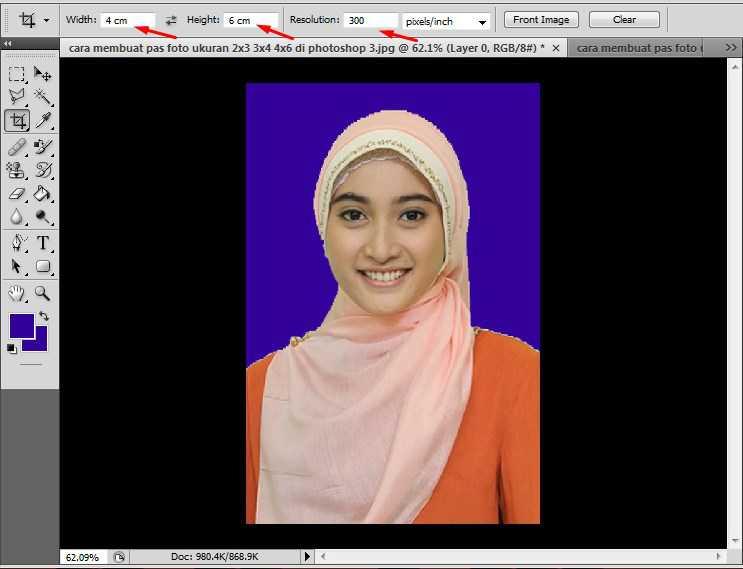 cara print foto 3x4 di photoshop