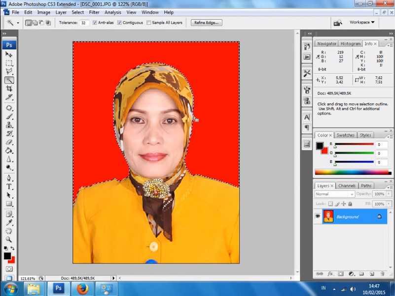 cara membuat background di photoshop