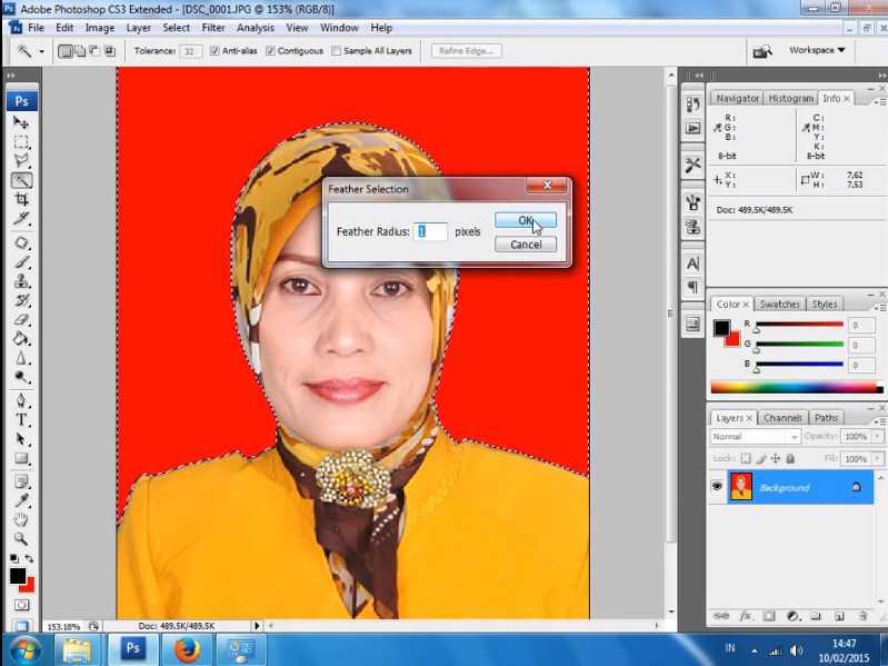 cara mengganti background foto di photoshop cs 4