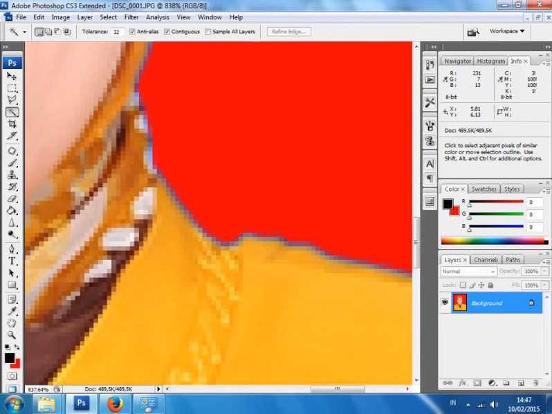 cara mengganti background di photoshop cs6