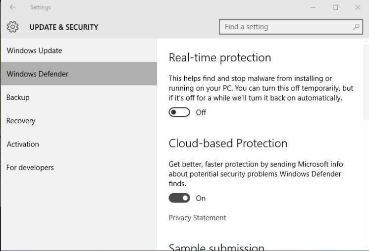 cara menonaktifkan windows defender di windows 8.1
