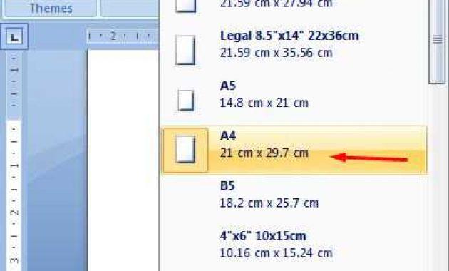 cara mengatur ukuran kertas a4
