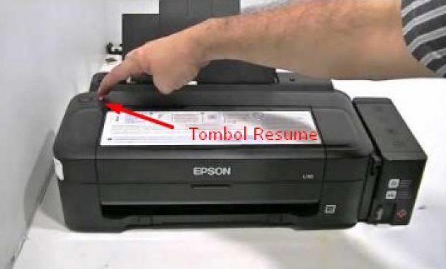 Cara reset ink level epson L210