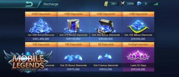 cara beli diamond mobile legend pakai pulsa murah